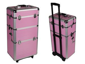 Trolley en alu, couleur ROSE