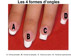 4 formes possibles d 39 ongles - Forme d ongle ...